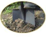 Лопата круглого лопаткоулавливателя кованой стали инструментов сада острая с ручкой стеклоткани