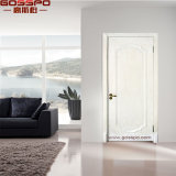 Landhaus-Innenraum geschnitzte weiße festes Holz-Tür (GSP2-094)