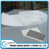 Medias de filtrage synthétiques lavables mécaniques de filtre de climatiseur non-tissé Pocket du roulis 25GSM F10