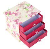 3 capas del tipo rectángulo de almacenaje del regalo, rectángulo del cajón de almacenaje de la cubierta del papel de imprenta