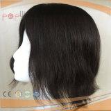Mens цвета человеческих волос нетронутые черные замыкают накоротко парик Toupee