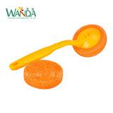 短いハンドルのTolietのクリーニングブラシの磨くパッドの皿のブラシのパッド