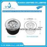 Aço inoxidável LED IP68 Luz subaquática de encaixe da lâmpada da Piscina