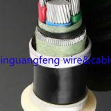 O cabo distribuidor de corrente Yjlv33 de alumínio, o fio de aço XLPE blindado isolou