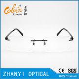 Het lichtgewicht Randloze Frame van de Glazen van Eyewear van het Oogglas van het Titanium Optische met Scharnier (5004) - C