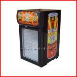 Mini refrigerador de la puerta de cristal