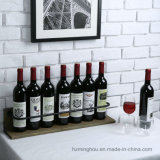 Cremagliera fissata al muro di legno rustica della bottiglia di vino della mensola di visualizzazione del liquore