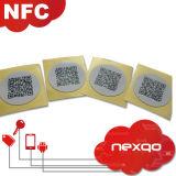 Hot Sale quatre couleurs d'impression de papier autocollant NFC en PVC pour le paiement mobile