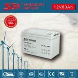 Alta tasa de la batería 12V80ah del gel para la energía solar