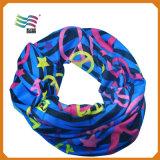 Шарф способа напечатанный таможней квадратный декоративный головной Silk (HYS-AF005)