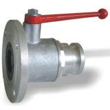 Válvula de esfera de alumínio Dn100 da única flange redonda