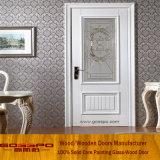 고전적인 디자인 백색 페인트 나무로 되는 목욕탕 문 (GSP3-052)