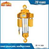 Alzamiento de cadena eléctrico de la sola velocidad con dos bolsos de cadena