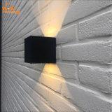 IP65 luz de aluminio blanca negra al aire libre de la pared de la cubierta LED