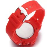 Plastikfall-Gummiband-Japan-Bewegungs-wasserdichte verschiedene Farben-Uhr