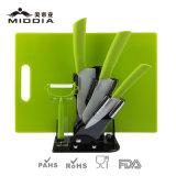 Utensílios de Cozinha conjunto de bloco de faca de cerâmica com placa de corte