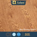 Ménage 12.3mm E0 Vente en gros de vinyle Hickory Bois Plancher en bois stratifié