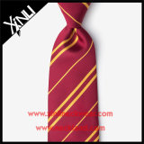 Legame marrone rossiccio e giallo del nodo 100% del jacquard perfetto della seta per gli uomini