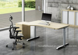 Le bureau L forme de meubles reposent le bureau réglable de hauteur de stand (HF-YZT021)