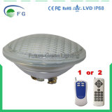 Indicatore luminoso subacqueo chiaro cambiante dello stagno della fontana incluso 2835SMD della lampada 252PCS della lampadina della piscina 18W PAR56 LED di colore di AC12V LED Dimmable RGB con il regolatore a distanza