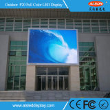 RGB P20 Full Color Outdoor Fixed Publicidade Uso LED Display Board Wall