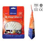 Prüfungs-Handschuhe mit Vinyl-Belüftung-Handschuhen mit Dotp der materiellen FDA bescheinigt