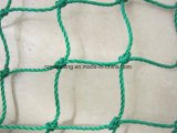Red de pesca anudada verde oscuro del polietileno