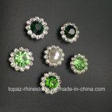 Rhinestone vendedor caliente del cristal de 7m m en la costura en la perla con el Rhinestone de la configuración de la garra (cristal redondo de la perla de TP-7mm)