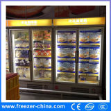 スーパーマーケットのMultideckのケースによって使用されるガラスドアの表示フリーザー