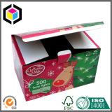 贅沢なデザインカスタムカラークリスマスのボール紙のギフトの包装ボックス