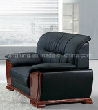 Bset che vende il sofà di cuoio dell'ufficio dell'unità di elaborazione con la base di legno (SF-638)