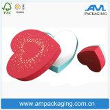 Cartón rígido en forma de caja de empaquetado del chocolate del corazón rojo con la ventana de visualización de PVC