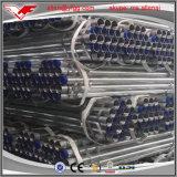Il tubo d'acciaio galvanizzato del condotto ERW ha filettato con le protezioni della plastica e dell'accoppiamento
