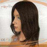 100% Menschenhaar unberührte Remy Farben-Frauen-Perücke, überzogene kurze Längen-Haar-Polyperücke
