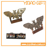 予約したプラント金の銅のペンキのニッケル(YB-HR-46)の金属のバッジを