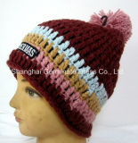 С другой стороны моды вязание Red Hat с Pompom (Hjb029)