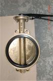 Válvula de borboleta da bolacha do bronze de alumínio (D071X-10/16)