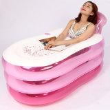 Vasca da bagno gonfiabile della STAZIONE TERMALE di nuotata del PVC di grande colore rosa di formato per l'adulto