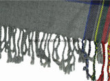 Bufanda teñida hilado de acrílico de la manera de la raya para las señoras (ABF22004008)