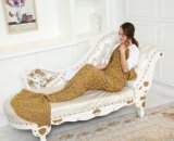 Crochet fait main tricoter Blanket jeter le poisson de queue de sirène