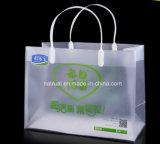 Bolso claro de encargo del PVC del embalaje con el bolso del cosmético del PVC del resbalador