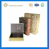 Cajas de embalaje de la cartulina decorativa de la dimensión de una variable del libro (con magnético)