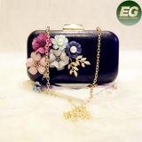 Sacs à main durs d'embrayage de Designable de femmes d'Eveningbags de cadre de dames de mode avec la fleur Eb791