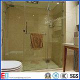 Casa de banho de vidro, curva de vidro temperado, vidro chuveiro com portas de vidro