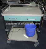 Farben-wahlweise freigestellte medizinische Laufkatze der Fach-AG-Mt035 zwei für Krankenschwester