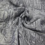 De zwarte/Grijze Sjaals van de Polyester van de Manier Bijkomende voor Meisjes Afgedrukte Sjaal