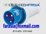 3p 6h IP44 63A Cee / IEC PP / PA Económica Plug Industrial