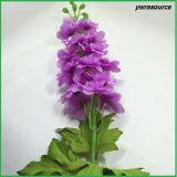 Delphinium falso di seta dei fiori artificiali per la decorazione domestica di cerimonia nuziale