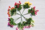 Künstliche Rosen-Knospe blüht gefälschte Blumen für Haupthochzeits-Dekoration