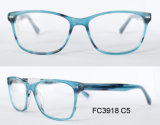 Moda Round Shape Acetato Mulheres Super Slim Optical Frame
